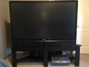 "62"" Toshiba rear projection TV and stand"