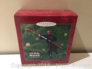 "Hallmark Keepsake Christmas Ornament Star Wars: Episode I ""Darth Maul"""