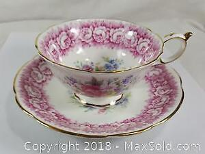 Paragon Fine China Cup And Saucer Rose Pattern