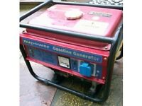 NUPOWER 240V OUTPUT 2.3KVA PORTABLE Petrol GENERATOR, first time start. Fully working. NO OFFERS