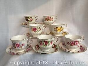 Queen Anne Teacups and saucers