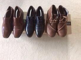 Two pairs of Men's High Quality Shoes and One pair of Boots
