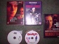 9 RARE ASSORTED DVDS AND 6 RARE VHS AND ONLY ON VIDEO