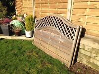 Four used fence panels