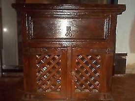 REDUCED ** SOLID WOOD - CUPBOARD ** SIDEBOARD ** UNIT ** STORAGE ** TABLE ** CLACTON CO15