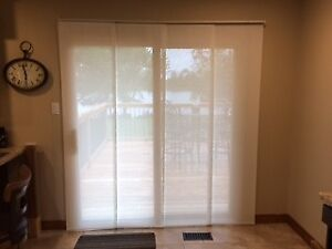 Light Filtering Panel Track Blinds and Rollar Shade