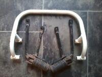 honda xlr 125 2000 grab rail both rear foot pegs