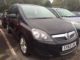 2012 Vauxhall Zafira 1.7 TD ecoFLEX 16v Exclusiv 5dr 5 door MPV