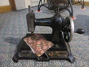 Antique Hand Turn Sewing Machine A