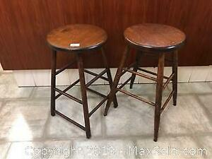 Two Wooden Stools B