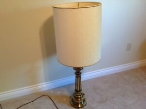 "brass ""STIFFEL"" table lamps (Pair) $50.00 each"