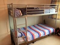 Bunk Bed - Metal Framed, strong structure.