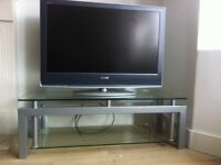 Solid Heavy glass and metal TV stand (sony)