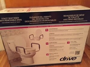 Toilet Seat Riser with Removable Arms