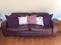 Stylish ex-Heals Of London Leather Sofa
