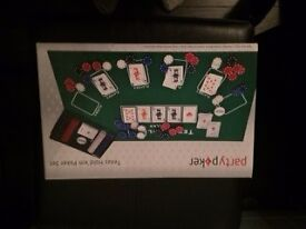 Poker game, used 2 times, good condition