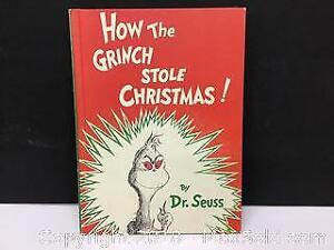 How the Grinch Stole Xmas EARLY print 1957.