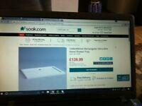Shower Tray- (New) (1200x900mm) Rectangular Ultra Slim Stone Shower Tray