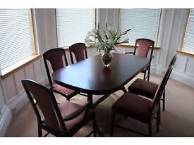 Mahogany McIntosh Extendable Dining Table + 6 Chairs