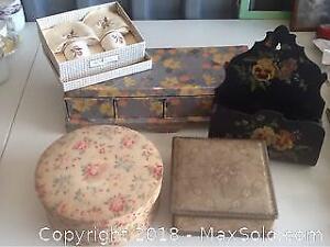 Lot Of Vintage And Antique Boxes