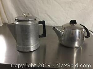 Aluminum Tea and Coffee Pots