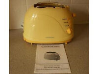 CORDED KETTLE & TOASTER --YELLOW