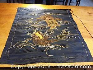 Antique Chinese silk wall hanging