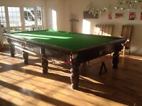 full size snooker table.