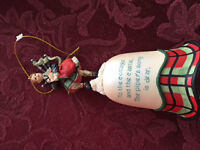 scotish bagpipe cottage christmas bell decoration