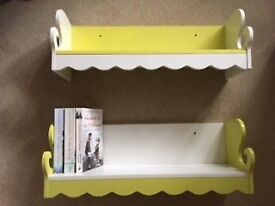 Decorative wall shelves.