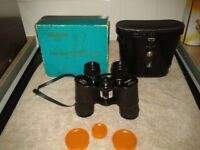Swift Tecnar ZCF binoculars 8x40 No45663 fully coated optics 341ft at 1,000yds leather case lens cap