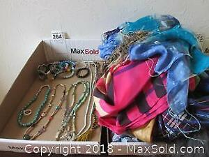 Scarves and Costume Jewelry A