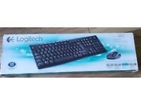 Brand new LOGITEC cordless keyboard and cordless mouse in original box - unwanted gift