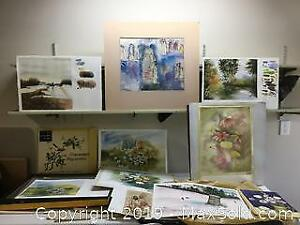Watercolour Collection And Art Supplies