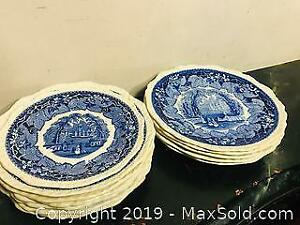 Old Masons Vista Blue and White Plates