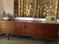 1960s Solid teak large sideboard