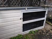 Large animal walk in run/kennel, and double hutch