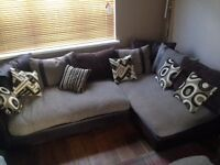 Large DFS Corner sofa and round arm chair EXCELLENT CONDITION!!!!! MUST SELL due to house move!!!!!