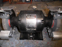 bench grinder 150 mm twin wheeled black an decker profesional 3000 rpm