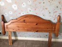 King Size Antique Pine Headboard - Excellent Used Condition