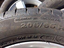 4 Mercedes B class alloy wheels & tyres