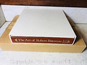 1981 THE ART OF ROBERT BATEMAN DELUXE ARTBOOK LIMITED BOXED EDITION WITH SIGNED PRINT 705/950