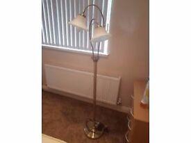 standing brass lamp