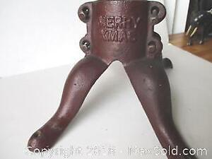Antique Heavy Cast Iron Xmas Tree Stand.