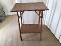 Antique bamboo table