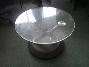 Future retro glass coffee table