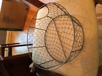 Metal wire basket for wedding