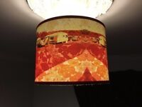 New handmade red Caravan Of Love Ceiling shade 'House of Chintz' £28 (RRP £65)