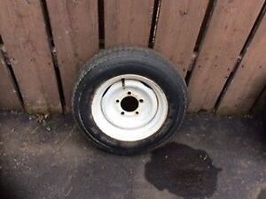 tire and rim for trailer