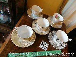 Tea Cups and Saucers B